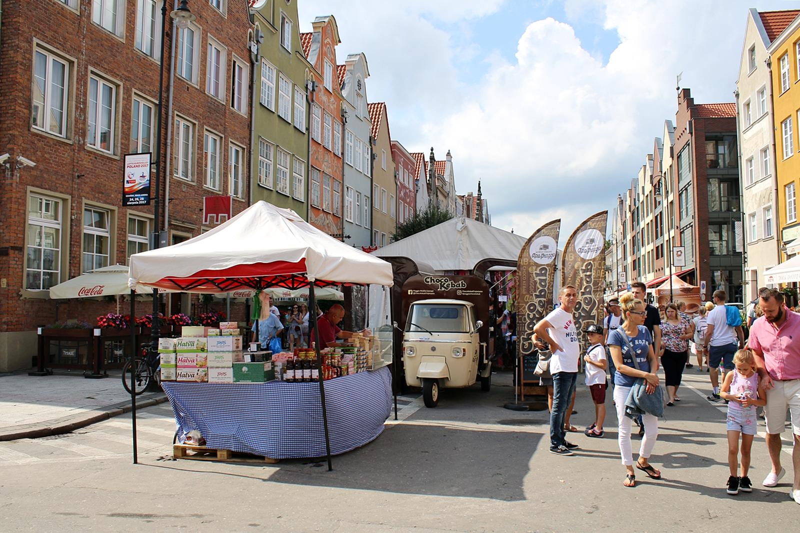 St. Dominic´s Fair en årlig marknad i Gdansk