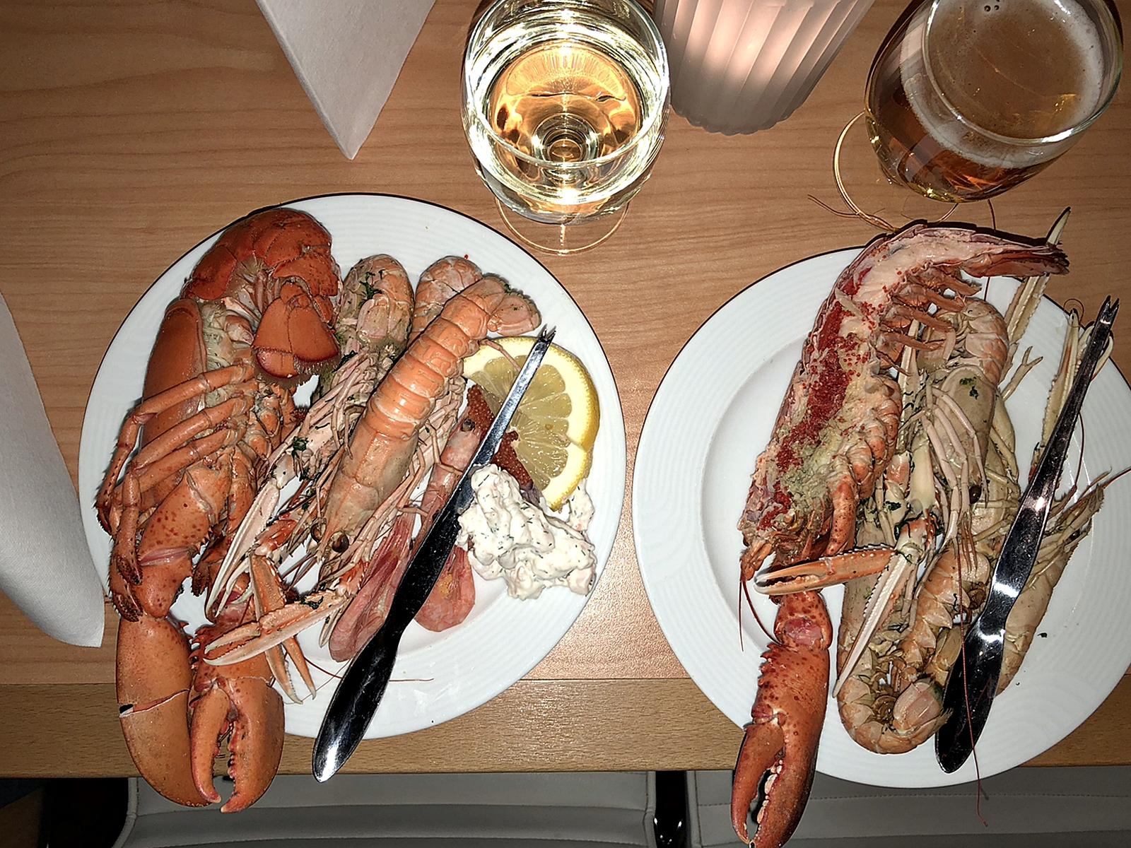 Just hemkommen idag efter en skaldjursfrossa på Stena Line med extra allt