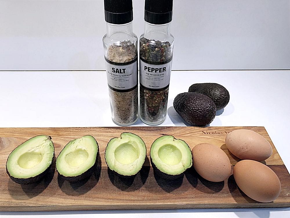 Bakad avokado till söndagsbrunch