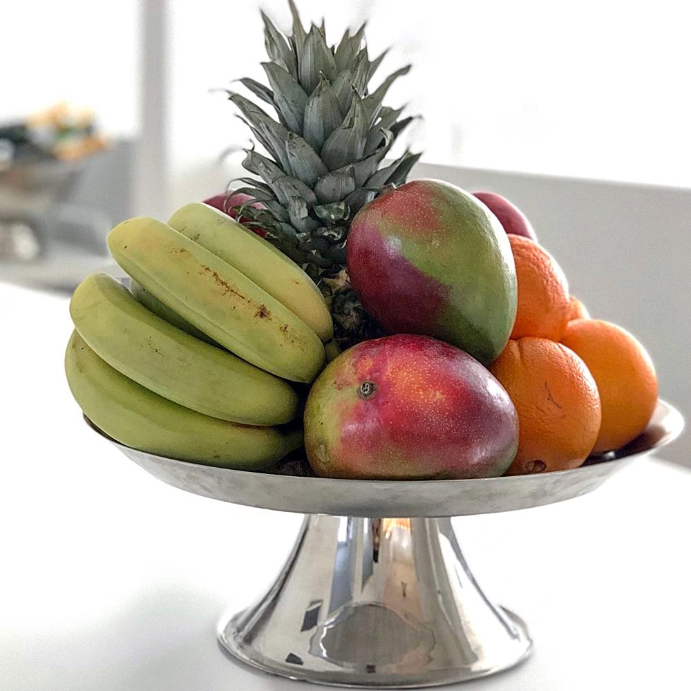 Måndagsmorgon och fruktskålen är laddad för en ny vecka