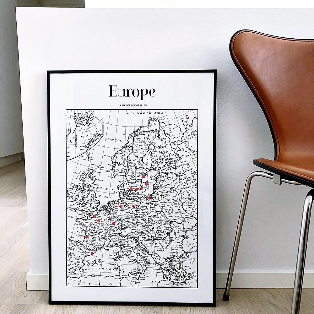 En Europe map