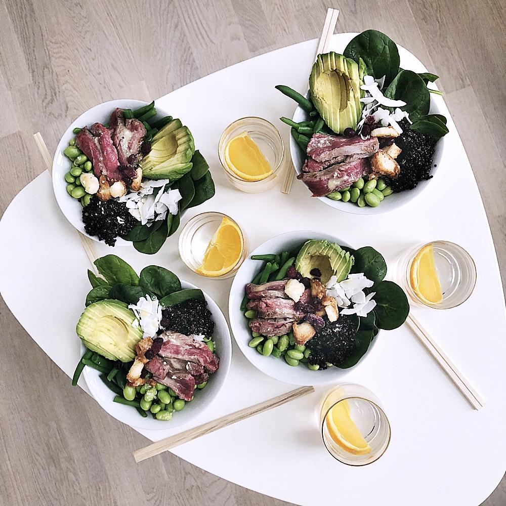 Lunch ska vara enkelt och gott, bowlfood