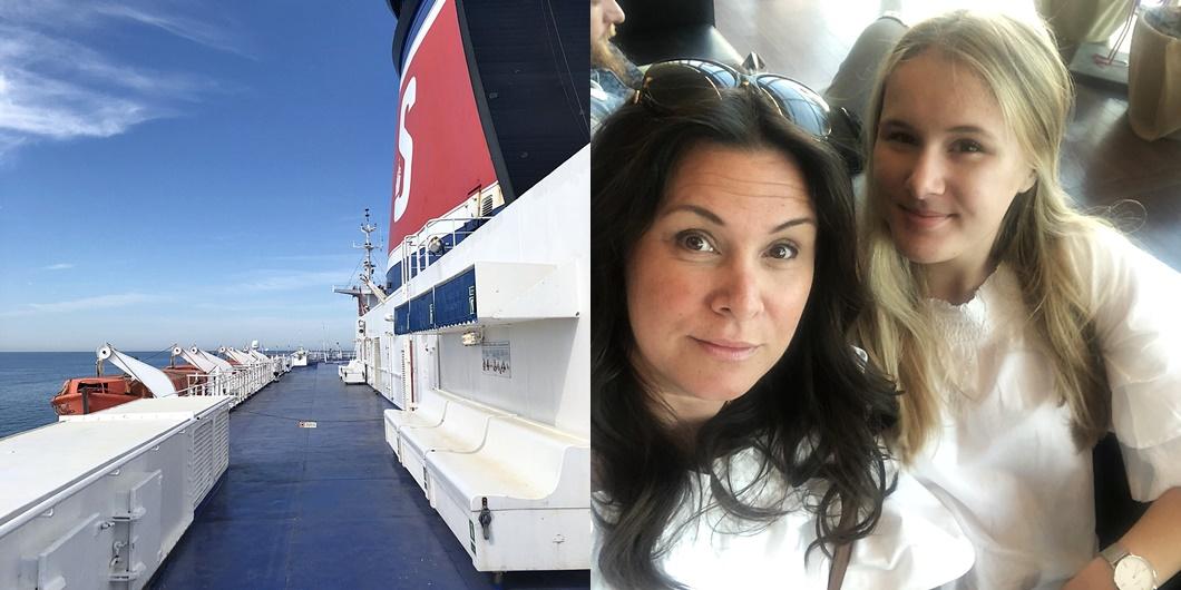 En mor och dotter resa med Stena Line över dagen